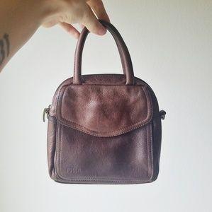 Fossil Vintage Brown Leather Mini Envelope Purse